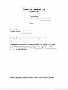 Notice Of Termination Of Contract Free Printable Notice Of Termination Form Pdf Amp Word