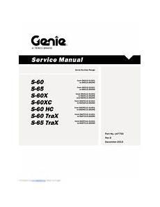 Genie S 65 Manuals