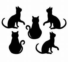 Cat Shapes To Cut Out Cat Silhouette Cut Outs Die Cut Kitten Shapes Black