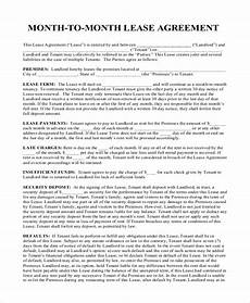 Room Rental Agreement Month To Month Free 8 Sample Month To Month Rental Agreement Forms In