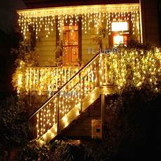 Warm White Christmas Lights Outdoor 10ft Holiday Living 100 Warm White Led Icicle Indoor