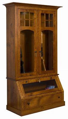 tribecca wood gun cabinet from dutchcrafters amish furniture