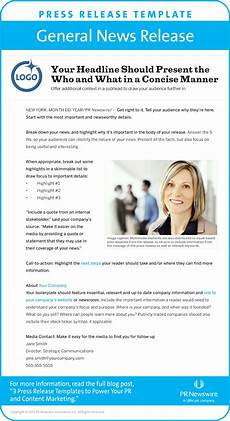 Press Releases Template Blog 3 Press Release Templates To Power Pr Amp Content