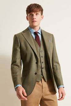 Light Blue Check Jacket Moss 1851 Tailored Fit Green Multi Check Jacket