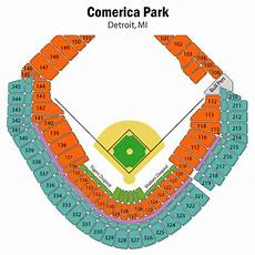 Detroit Tigers Seating Chart With Rows Breakdown Of The Comerica Park Seating Chart Detroit Tigers
