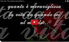 and testo tradotto elton your song testo tradotto in italiano