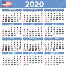 2020 Calendar Holidays Usa 2020 Elegant Squared Calendar English Usa Year 2020