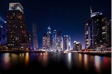 Dubai Night Lights Dubai Marina Uae Dubai United Arab Emirates Town Night