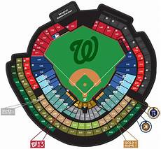 Washington Nats Stadium Seating Chart 2016 Partial Plans Washington Nationals