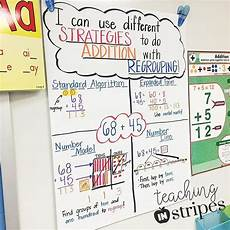 2nd Grade Math Strategies Anchor Chart Addition With Regrouping Anchor Chart Math Charts Third