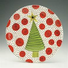 Christmas Pottery Designs 12 Christmas Tree Serving Platter Swirls And By