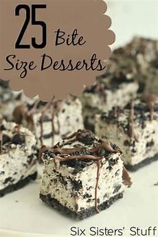 25 bite size desserts six stuff