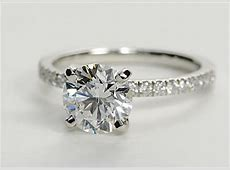 Petite Pave Engagement Ring (Thin Shank)   Engagement Ring