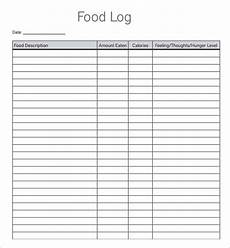 Food Tracking Log Free 16 Sample Printable Food Log Templates In Pdf Ms