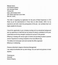 Cover Letter Example For Supervisor Position Academic Proofreading Cover Letter Sales