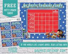 Free Printable Potty Chart Paw Patrol Printable Paw Patrol Potty Training Chart Free Punch Cards