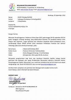 contoh surat undangan acara launching undangan kepada komunitas tik bandung dalam rangka
