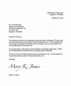 Job Offer Acceptance Email Example Free 7 Sample Job Offer Acceptance Letter Templates In Ms