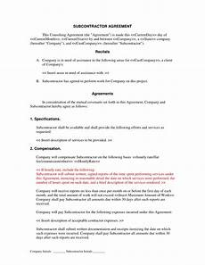 Free Subcontractor Agreement Subcontractor Agreement Form With Images