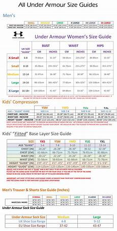 Under Armour Sizing Chart Youth Under Armour Apparel Size Guides