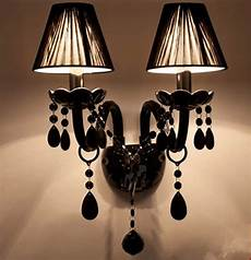 Candle Sconce Light Fixtures Black E14 Led Wall Candle Lights Bedroom American Vintage
