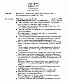 Objective In Resume For Customer Service Representative Customer Service Representative Resume 9 Free Sample