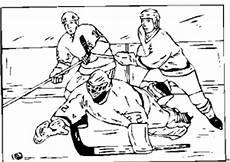 eishockey torwart faengt puck ausmalbild malvorlage sport