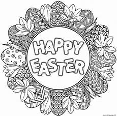 print happy easter easter mandala coloring pages easter