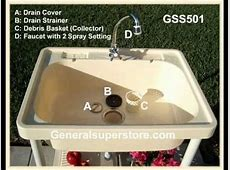 GSS501 Portable Outdoor Sink   YouTube