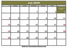 July 2020 Calendar Printable July 2020 Calendar Printable With Holidays Calendar