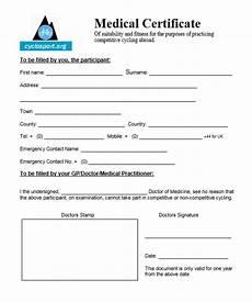 Health Certificate Sample 8 Free Sample Medical Certificate Templates Printable