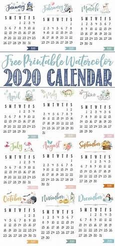2020 Mini Calendar Printable Free Printable 2020 Calendar Clean And Scentsible
