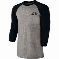 nike sleeve shirts nike sb dri fit 3 4 sleeve crew shirt