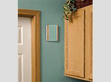 oak trim white door     Wallpaper Decorate Wireless Chimes with Light and Dark Wood Trim