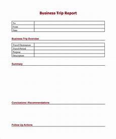 Business Trip Report Template Word Sample Trip Report 9 Documents In Pdf