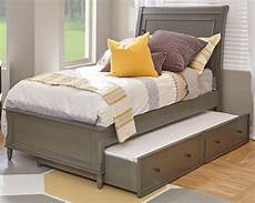 avignon grey sleigh bed with trundle bed from jofran