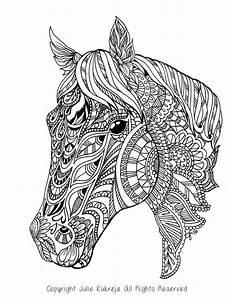 Gratis Malvorlagen Pferde Mandala Coloring Page Gift Wall Mandala Zentangle