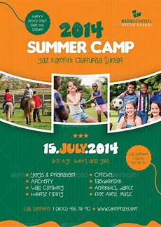 Camp Flyer Template Free Summer Camp Flyer Templates By Grafilker Graphicriver