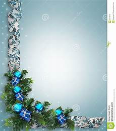 Blue Holiday Border Christmas Holiday Border Stock Illustration Illustration