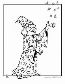 magic wizard coloring page woo jr activities