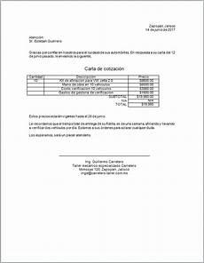 Formato Para Cotizacion En Word Carta De Cotizaci 243 N Gt Formatos Y Ejemplos Word Para Imprimir