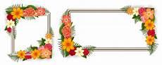 cornici immagini due cornici con fiori colorati scaricare vettori premium