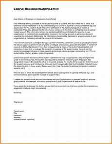Letter Of Recommendation Graduate School Samples 12 Sample Recommendation Letter For Graduate School