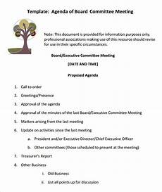 How To Write An Agenda For A Board Meeting Free 11 Sample Board Meeting Agenda Templates In Pdf Ms