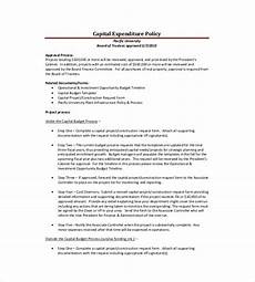 Capital Expenditure Budget Example 10 Capital Expenditure Budget Templates Word Pdf