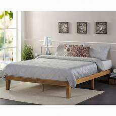 zinus wood platform bed wayfair ca