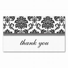 thank you card template and black black and white damask thank you card business card