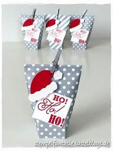 mini box in a bag mit weihnachtsm 252 tze weihnachtsm 252 tze