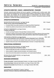 Softball Coach Resume Coach Resume Example Sample