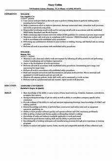 Resume For Welding Welder Resume Samples Velvet Jobs